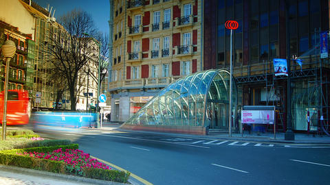 Bilbao metro is a modern design and is designed by Footage