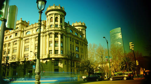 Scene from Bilbao city in the afternoon, pedestria Footage