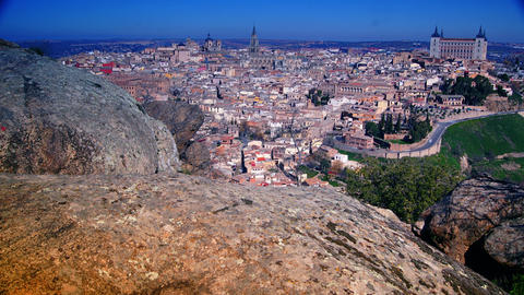 Panoramic view of the historic city of Toledo 4k Footage