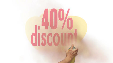 40 Percent Discount Spray Painting Animation