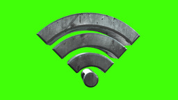 Rotating WiFi Symbol stock footage