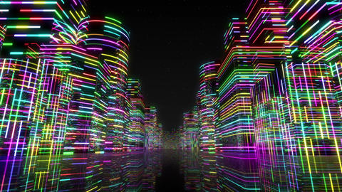 Neon Light City F 1 Aa 2 4k Animation