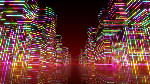 Neon Light City F 1 Ac 2 4k Animation