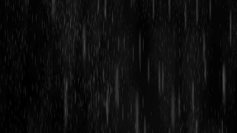 Heavy rain storm,Blizzard snow fall in night Animation