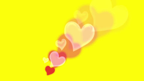 Valentine's Day red love heart symbol fly generate Animation