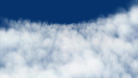 Surging sea of clouds in wind,abstract spectacular cloudscape Animation
