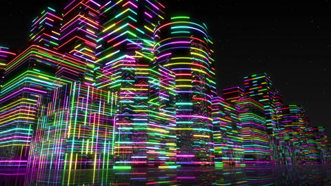 Neon Light City F 3 Aa 2 4k stock footage
