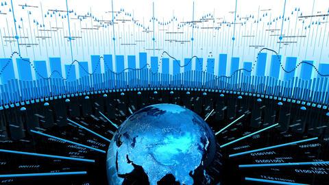 World Stock Market Business Data Stock Video Footage