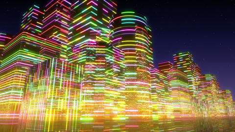 Neon Light City F 3 Ac 2 4k Animation