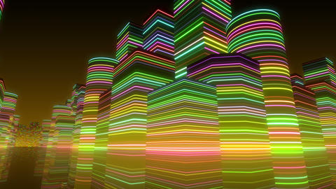 Neon Light City R 1 Bc 2 4k Animation