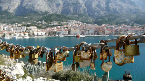Love Padlocks stock footage