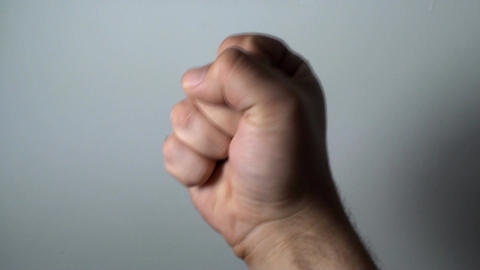 Man's Hand Showing Fist Gesture,Hands, Signs, Mean Live Action