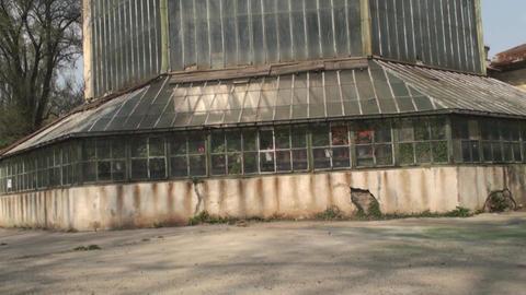 Old Abandoned Green House Old, Destroyed, Rust Til Live Action