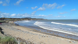 Courtown Beach stock footage