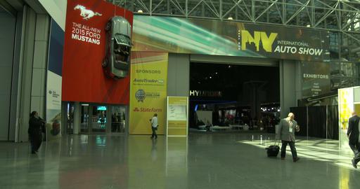 Main entrance of New York International Auto Show Footage