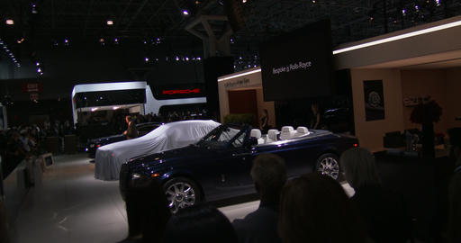 Rolls Royce exhibit at the New York Auto Show Footage