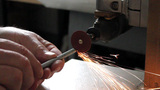 Metal Cutting With Grinder stock footage