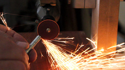 metal cutting with grinder Footage