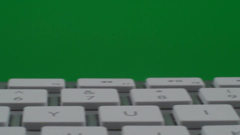 Pan Of A Keyboard On A Green Screen, Chroma, Key,  Live Action