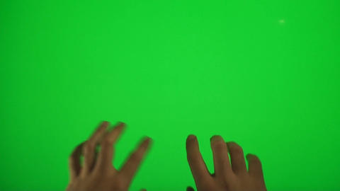 Hands Typing On A Green Screen, Chroma, Key, Detai stock footage
