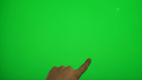 Hand Touching Corners On A Green Screen, Chroma, K Footage