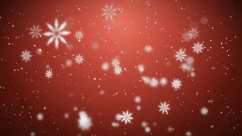 Snow background red Animation