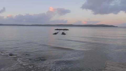 sunset pan from Te Atatu Peninsula Animation