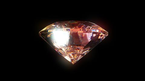 4k slowly rotating diamond, Stock Animation
