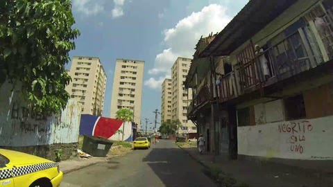 CHORRILLO, PANAMA - CIRCA 2014: Shacks In Shanty T stock footage