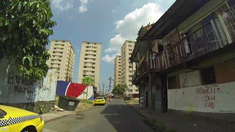 CHORRILLO, PANAMA - CIRCA 2014: Shacks in shanty t Footage