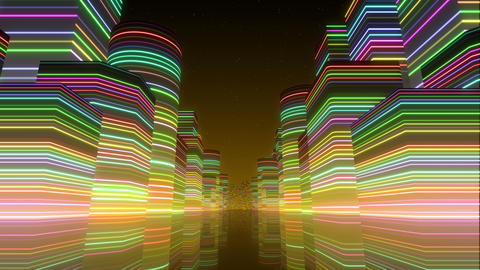 Neon Light City F 1 Bc 2 4k stock footage