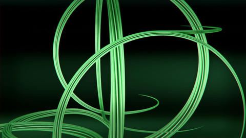 Green tangled and twisted growing 3D vines Animation