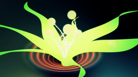 Dancing 3D electronic disco plant Stock Video Footage