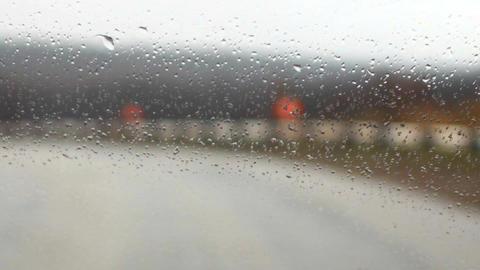 raindrops on a car windshield f Footage