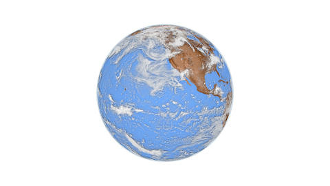 Animation of blue spinning planet Earth Animation