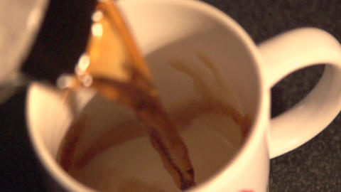 Coffee Pour Slow Motion Footage