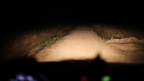 Driving on Congo dirt road night Footage