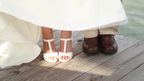 Wedding Feet Stock Video Footage