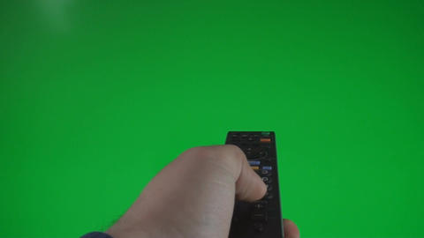 Man Surfing Channels On A Green Screen, Chroma, Ke Footage