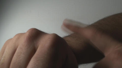 Man's Hands Making The Time Gesture, Hands, Signs, Footage