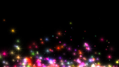 Colorful Stars stock footage