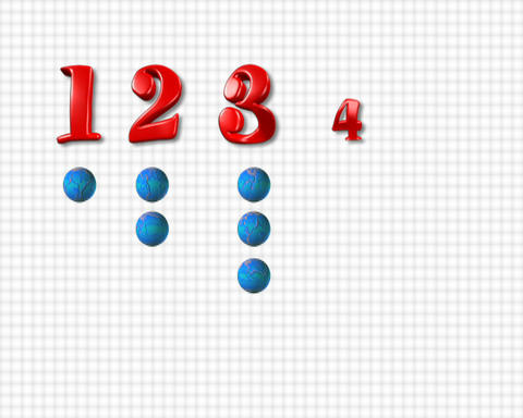 numbers animation one to five Stock Video Footage
