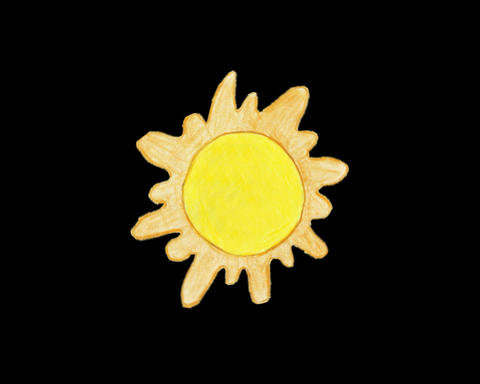 Children's drawing sun rotate animation Animation