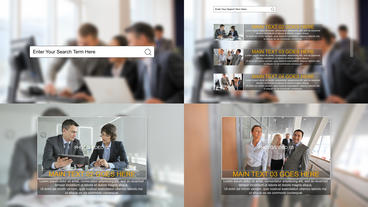 Media Search After Effects Template