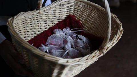 wedding almonds Stock Video Footage