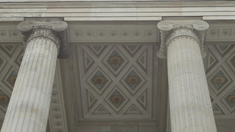 Pillars At Gendarmenmarkt stock footage