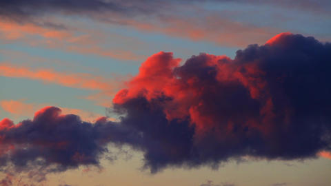 Dramatic cloudscape at twilight Footage