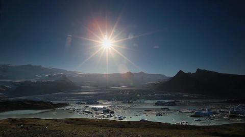 Icebergs in Joekulsarlon glacial lake, Iceland Footage