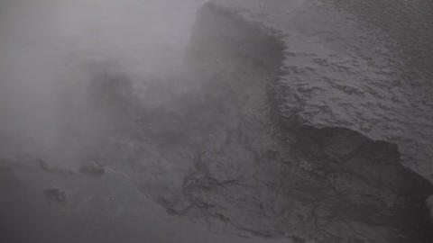Hot boiling liquid mud in Hveraroend, Iceland Footage