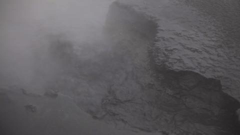 Hot boiling liquid mud in Hveraroend, Iceland Footage